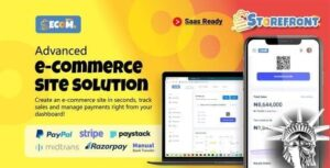 Ecom - Fast Multi Store Front Builder (SaaS)