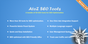 AtoZ SEO Tools v3.0 NULLED
