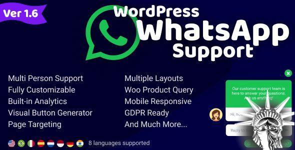 WordPress WhatsApp Support v2.0.7 NULLED