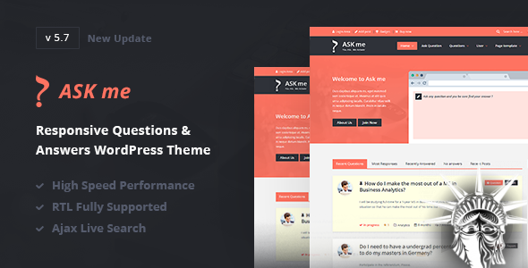 Ask Me Theme v6.4.5 NULLED