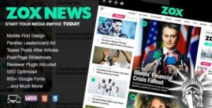 Zox News Theme v3.9.0 NULLED