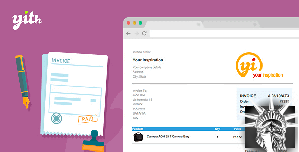 YITH WooCommerce PDF Invoice and Shipping List v2.0.22