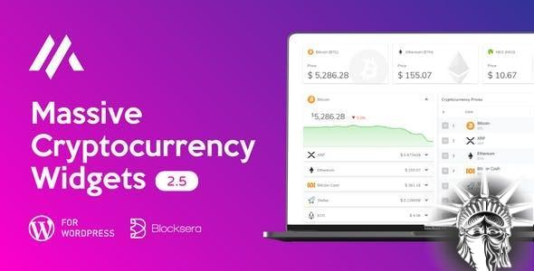 Massive Cryptocurrency Widgets v3.1.8