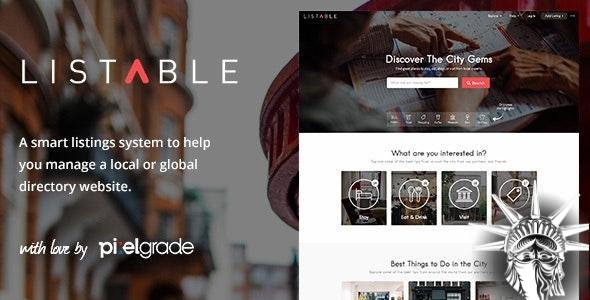 LISTABLE Theme v1.15.2 NULLED