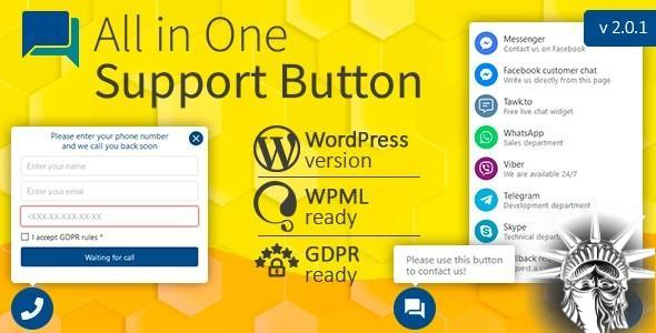 All in One Support Button v2.0.1 NULLED