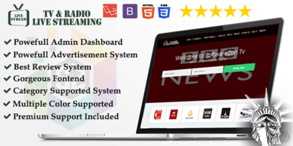 Live TV Channel Broadcasting Script PHP