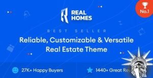 Real Homes Theme WordPress immobilier